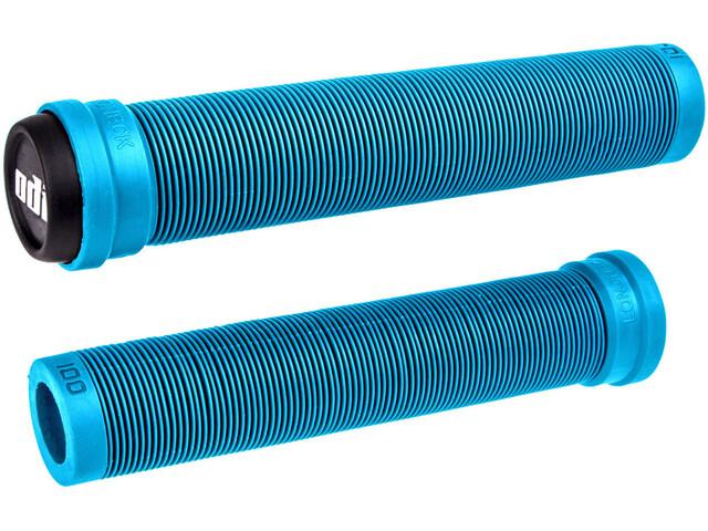 ODI Longneck SLX Flangeless BMX Grips, azul